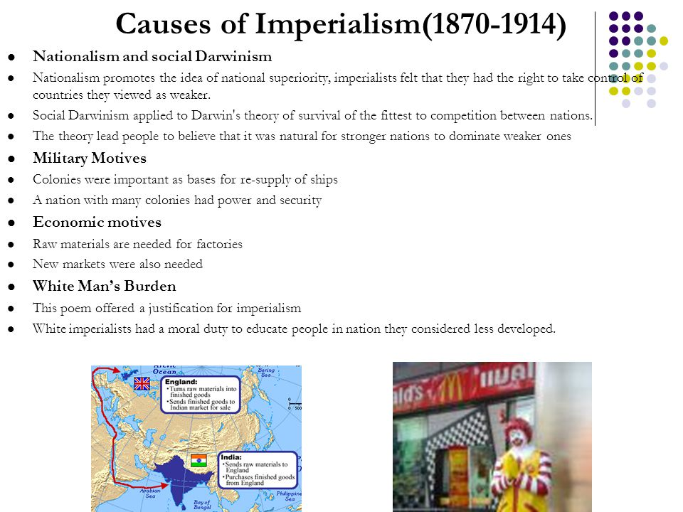 Causes of Imperialism( )