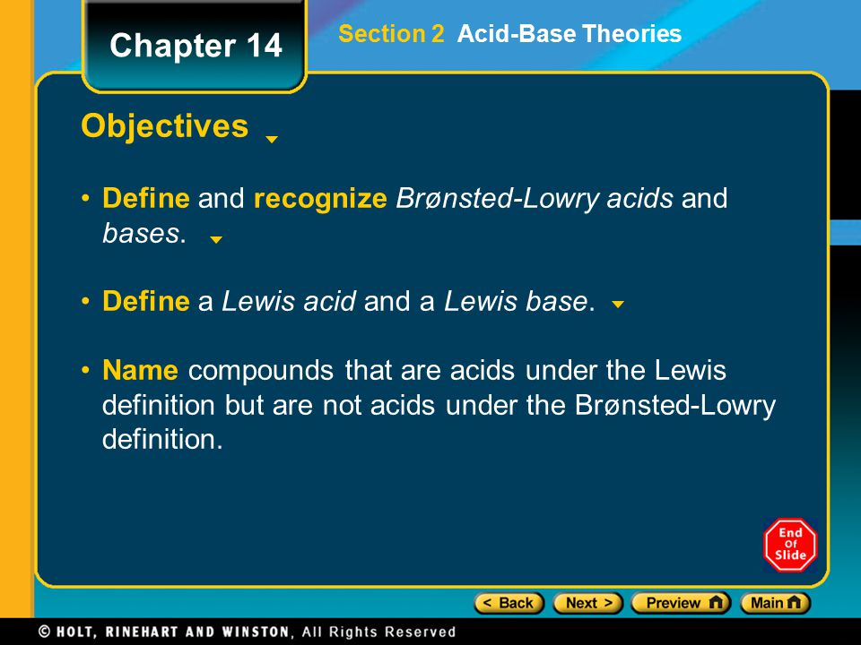 Section 2 Acid-Base Theories