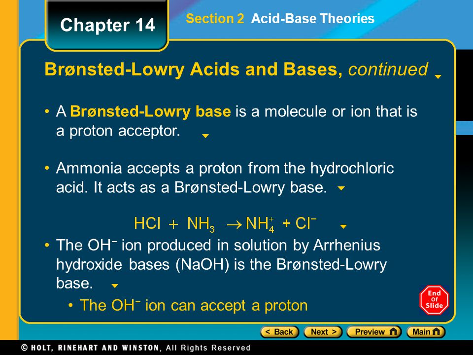 Brønsted-Lowry Acids and Bases, continued