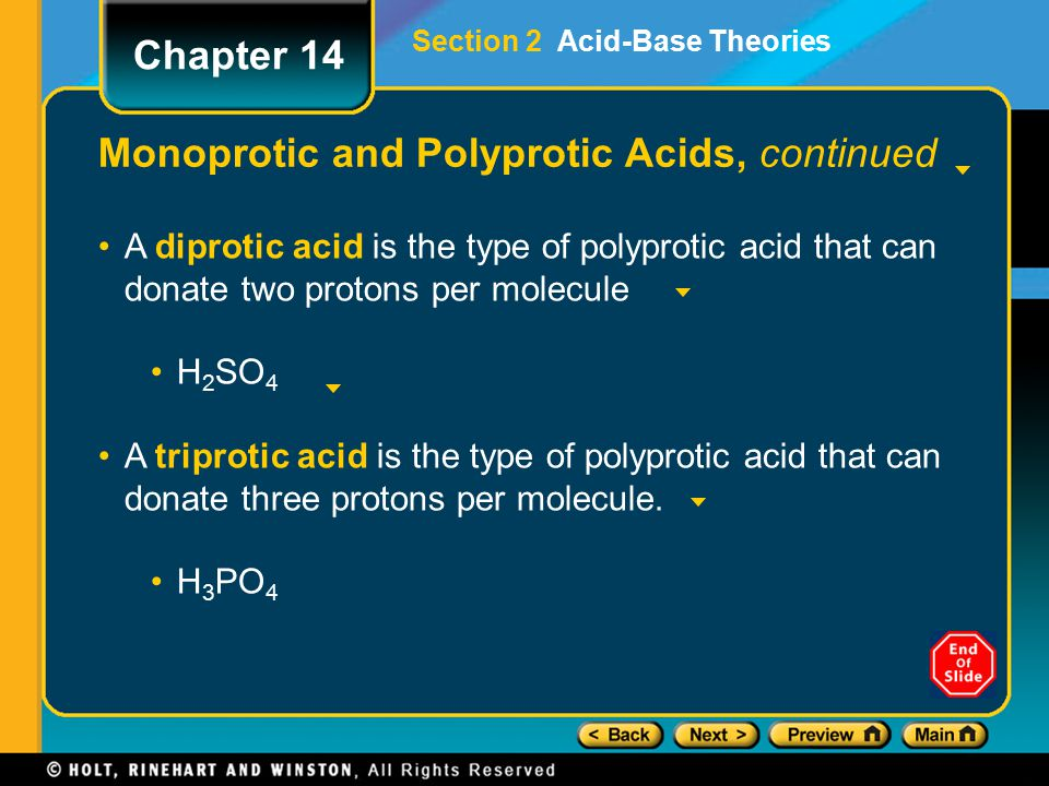Monoprotic and Polyprotic Acids, continued
