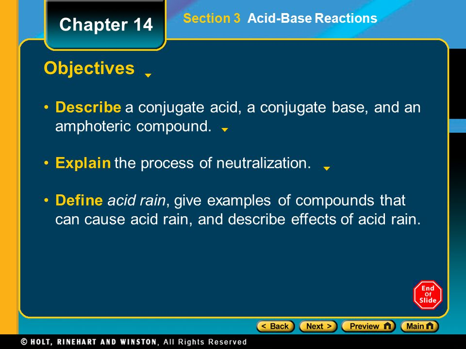Section 3 Acid-Base Reactions