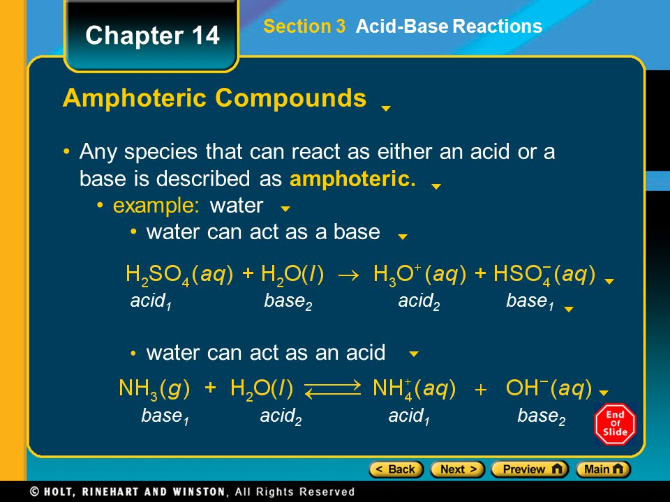 Chapter 14 Amphoteric Compounds