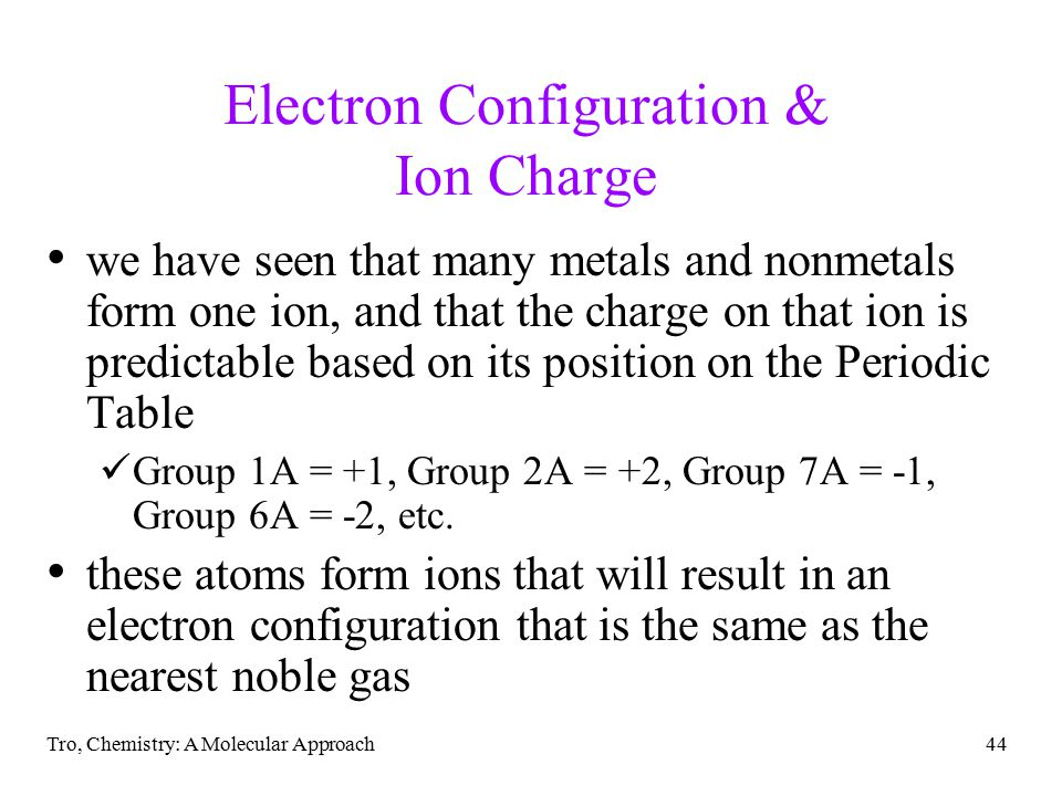 Chapter 8 periodic properties of the elements ppt download electron configuration ion charge urtaz Gallery