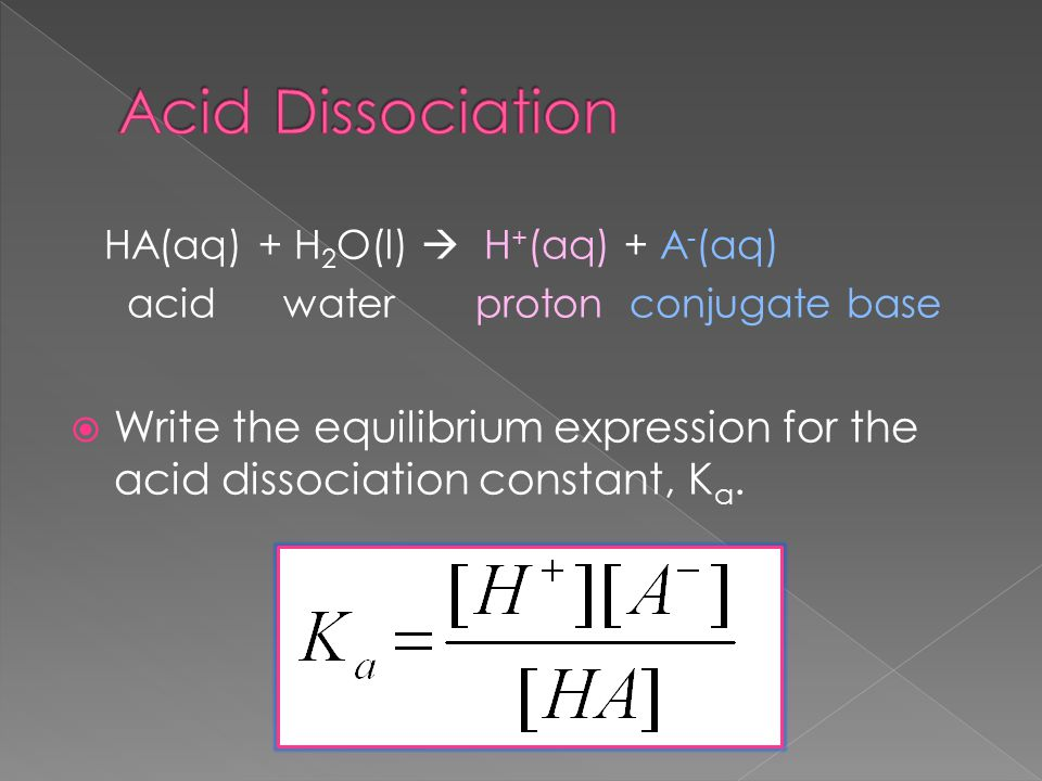 What is the equilibrium constant of CH3COOH?