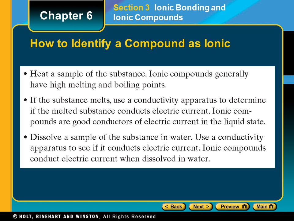 how to know if a compound is ionic