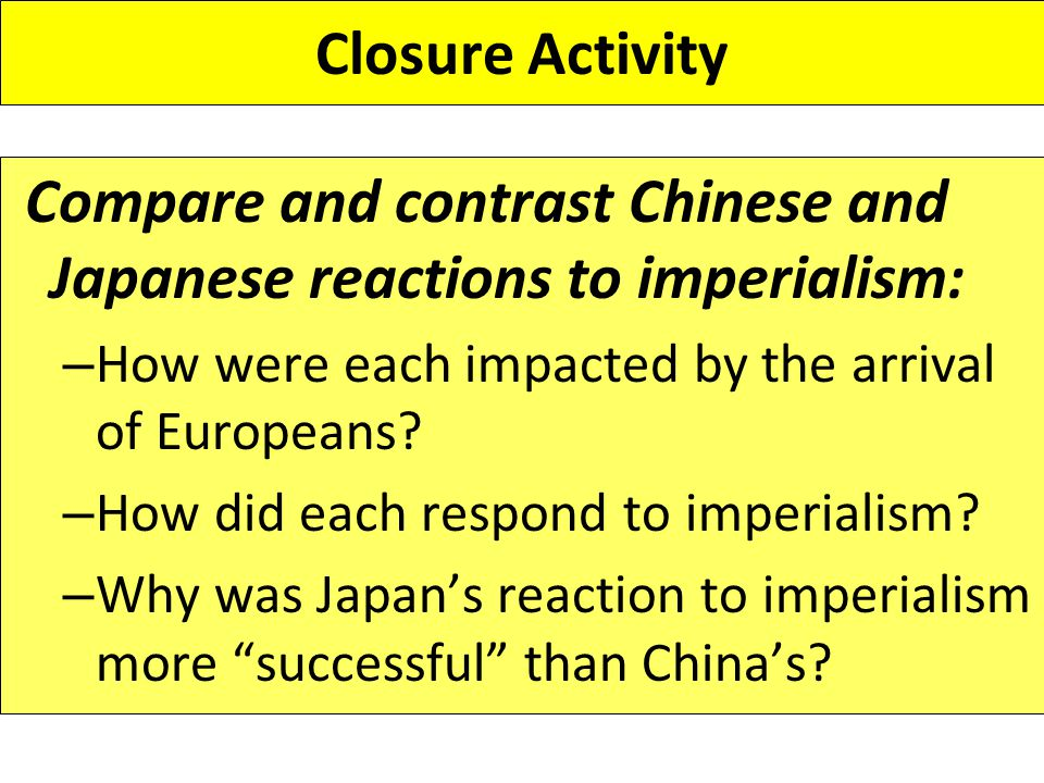 compare china and japan