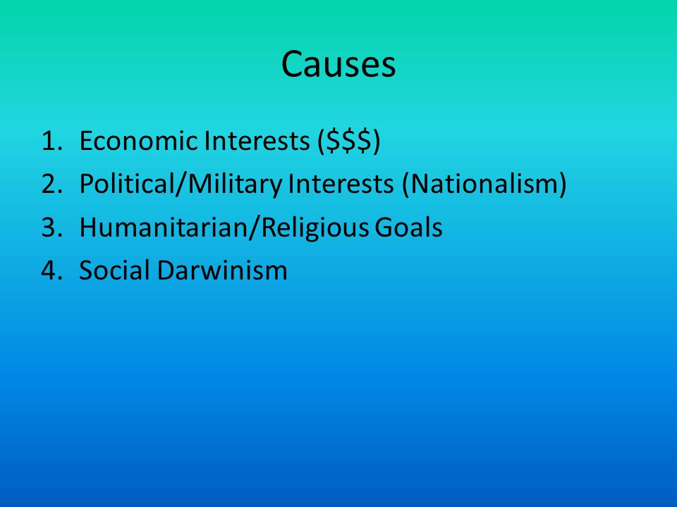 Causes Economic Interests ($$$)