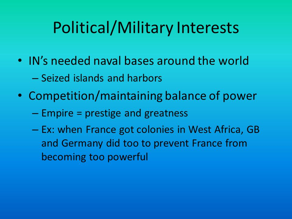 Political/Military Interests