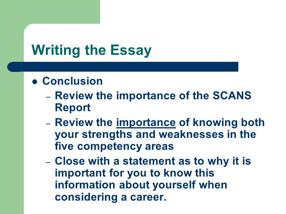 strengths on writing essays