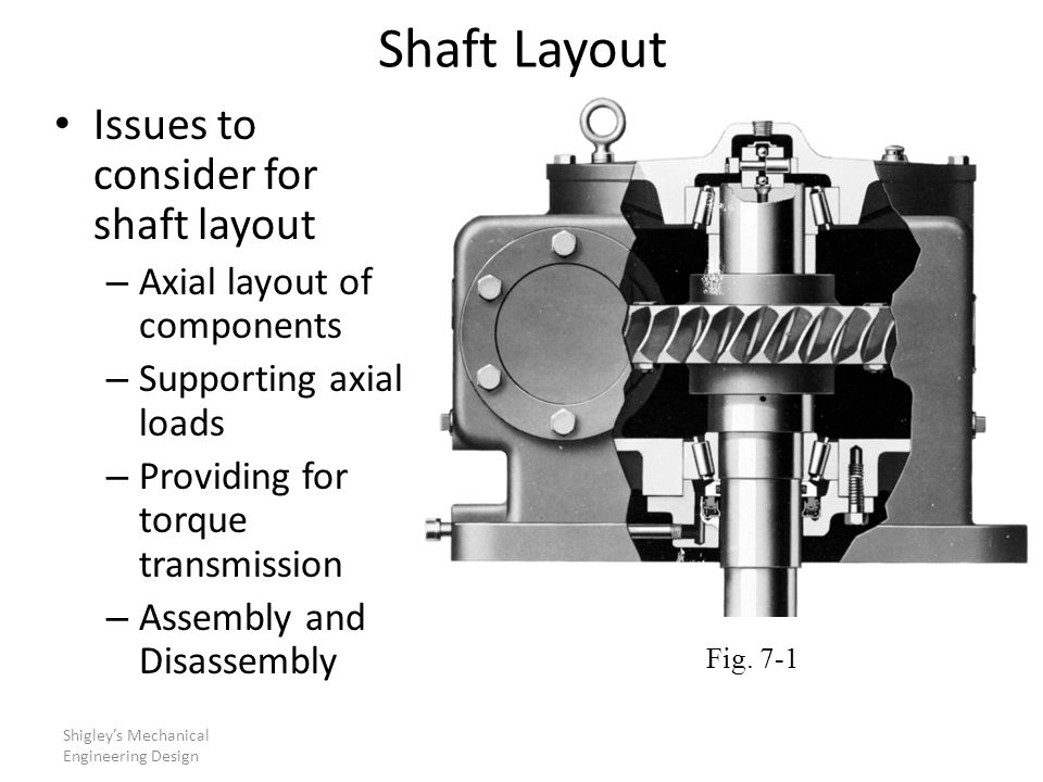Shaft Layout Issues to consider for shaft layout