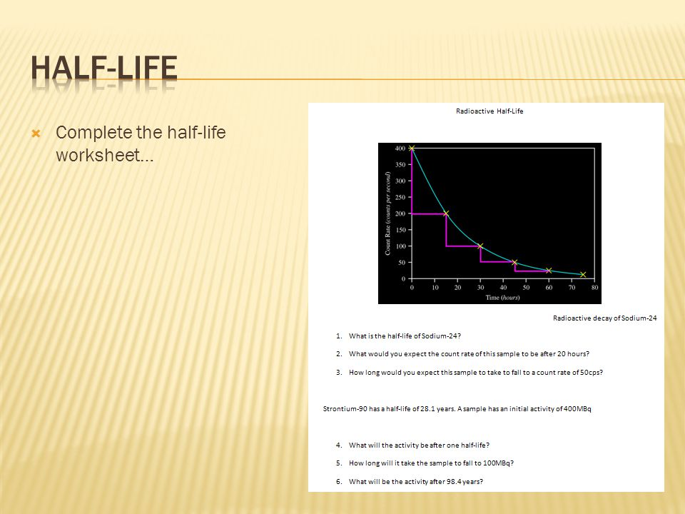 HalfLife Noadswood Science ppt download – Half Life Calculations Worksheet