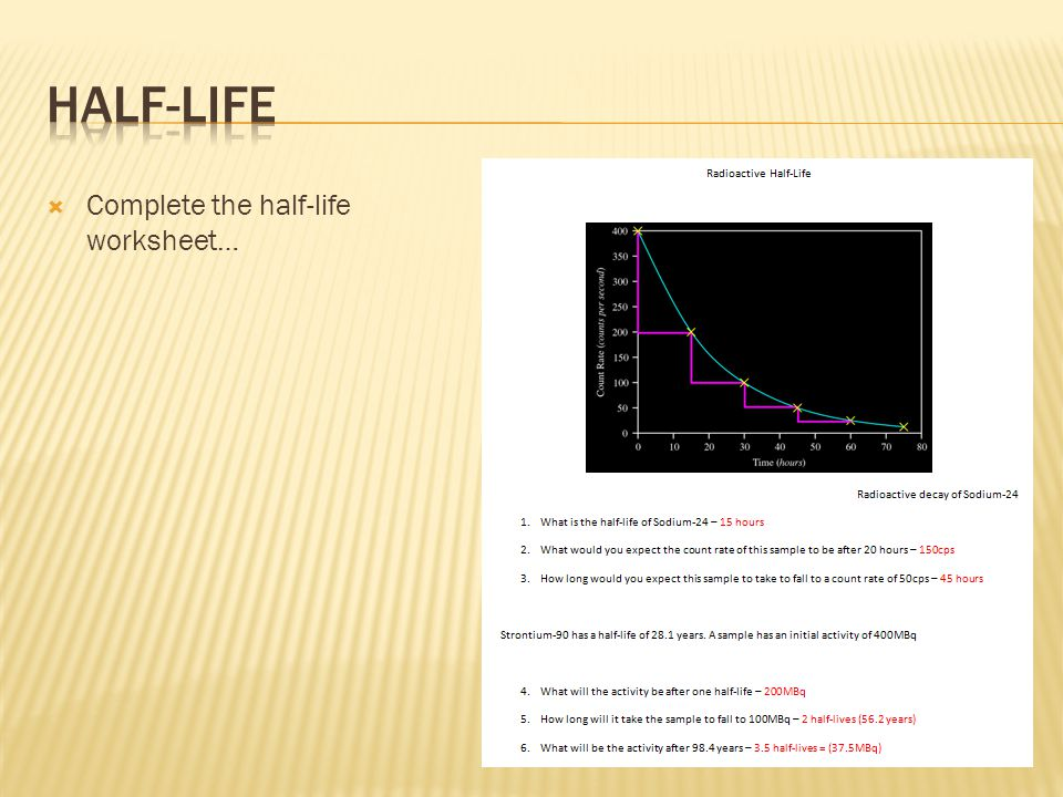 HalfLife Noadswood Science ppt download – Half Life Worksheet