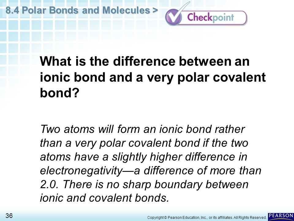 Chapter 8 Covalent Bonding 8.4 Polar Bonds and Molecules - ppt ...