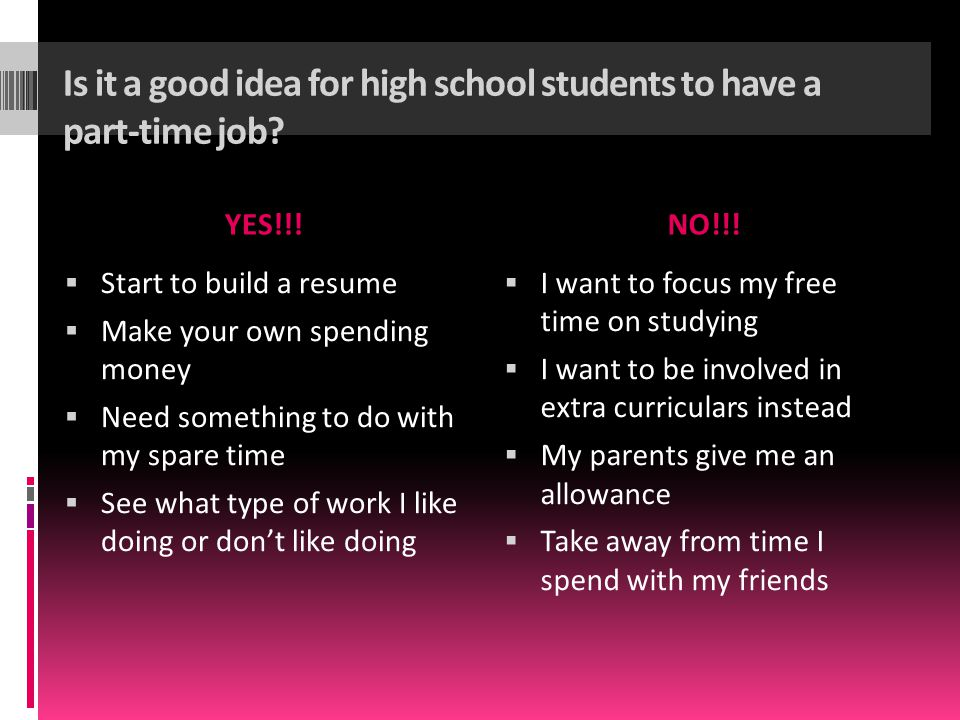 high school student part time jobs