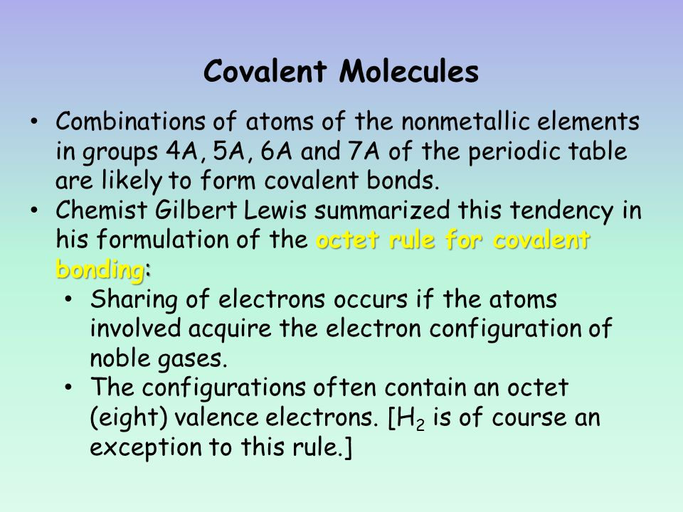 Chapters 6 and 16 Covalent Bonding - ppt download