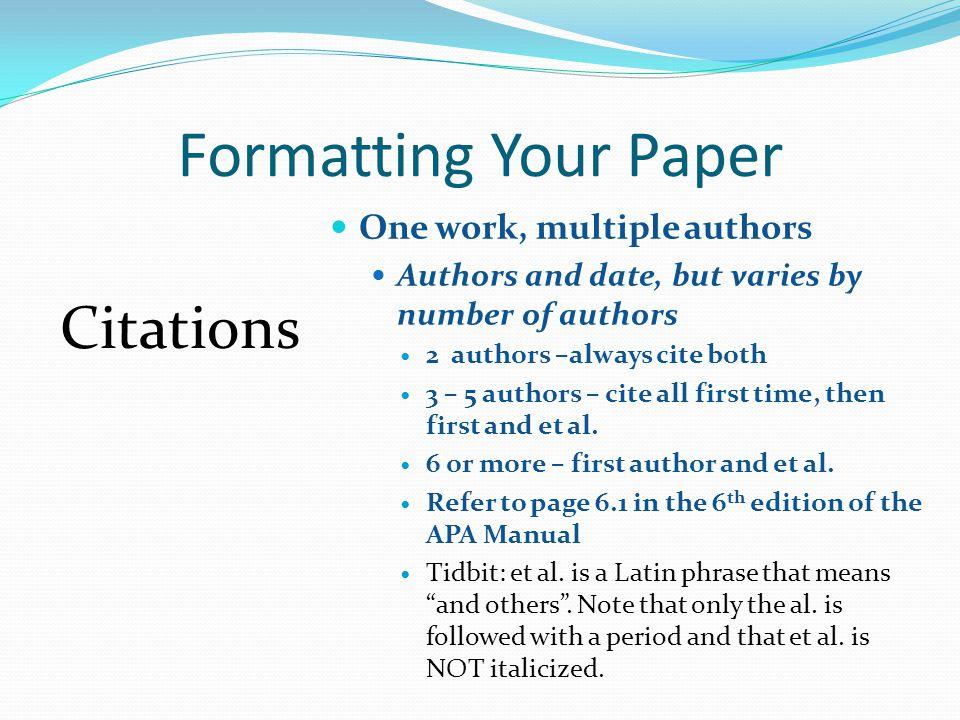 In paper citation apa multiple authors