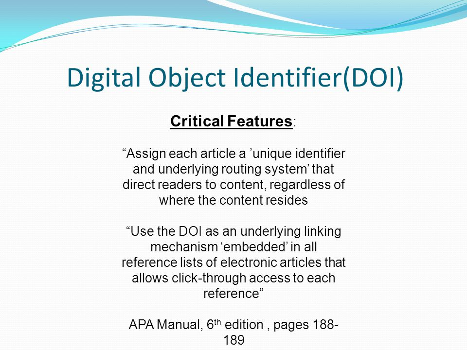 how to add doi to reference