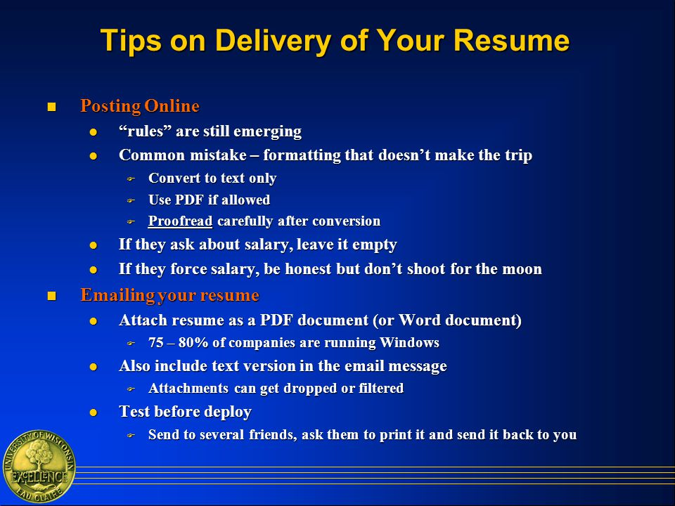 resume preparation  and interviewing tips