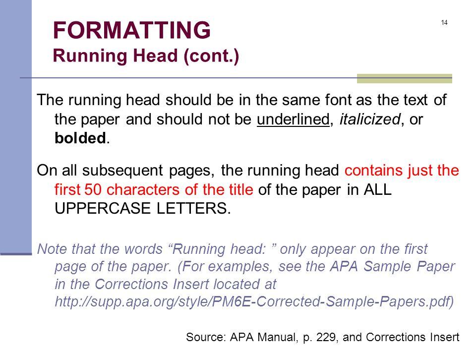 the basics of apa format ppt