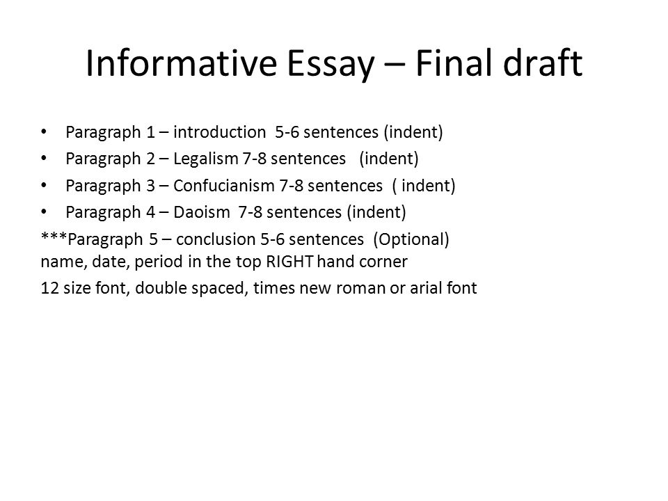 Informative essay Due April 24 2013 Wednesday ppt video – Informative Essay