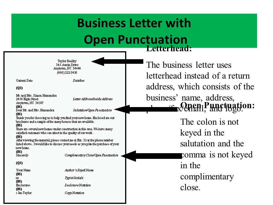 Keyboarding objective 401 implement paragraph formats ppt download business letter with open punctuation spiritdancerdesigns Choice Image