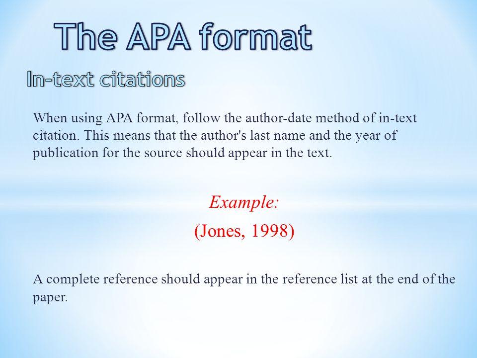apa thesis sample