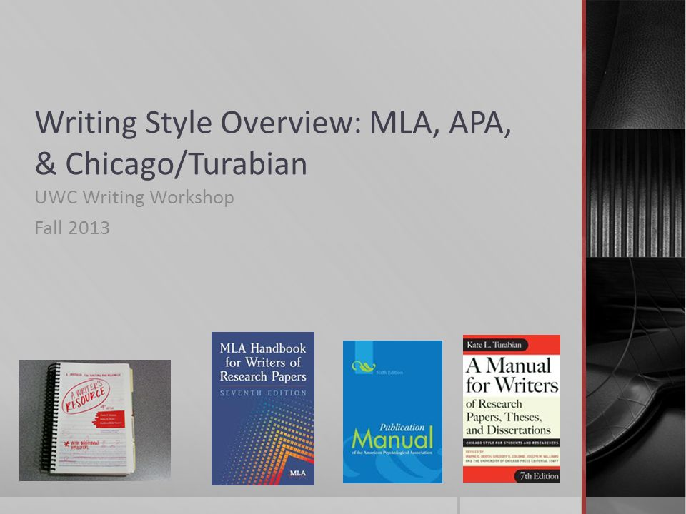 chicago style mla The chicago manual of style/turabian citation style includes two systems for citations: a notes and bibliography system and the author-date system.