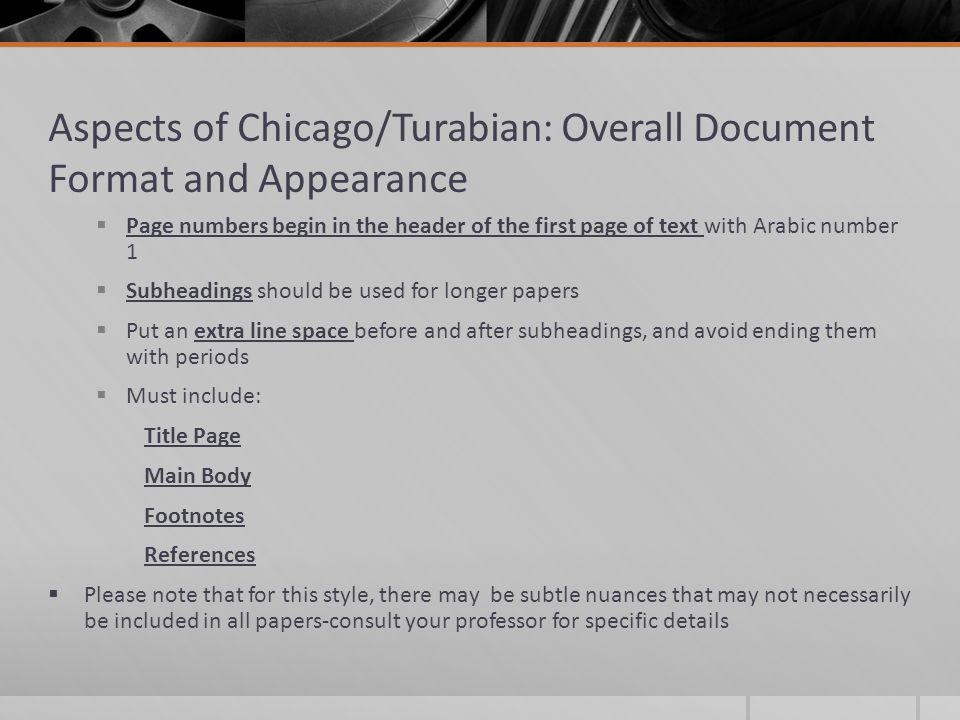 turabian format for research papers Turabian documentation - the research paper when using the a manual for writers of research papers, theses, and dissertations (turabian) format.