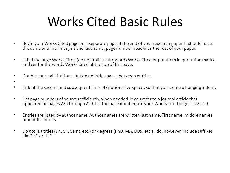 research paper works cited page Why should a writer include a works cited page in a research paper check all that apply to organize source material to summarize ideas to avoid - 1335564.