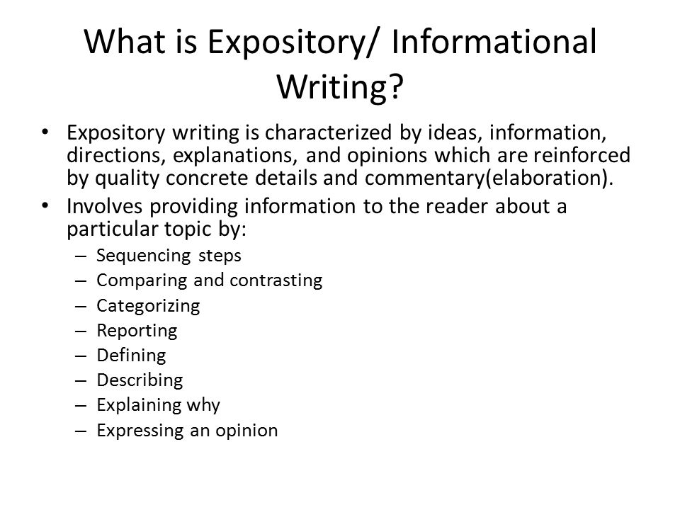 writing an expository essay powerpoint