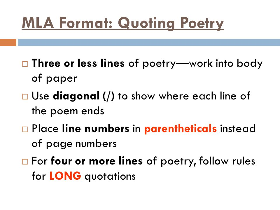 How to Cite a Poem in Academic Paper Using MLA Style