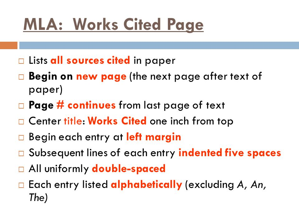 Research Documentation ppt download – Mla Works Cited Worksheet