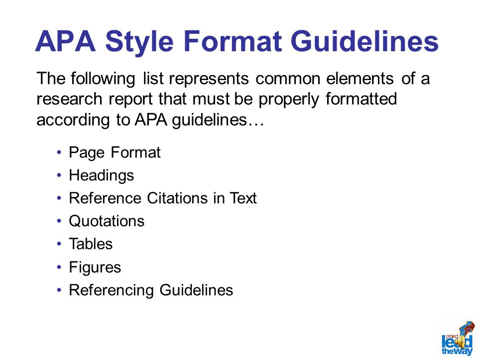 apa style report