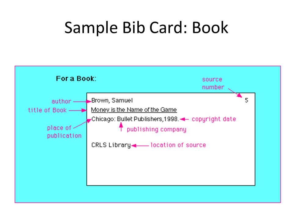 bib cards research paper Writing a bibliography is easy by following the format outlined in this article  learn how to properly cite different resources in the bibliography of a research  paper.