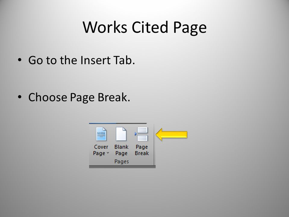 how to delete page break in microsoft works