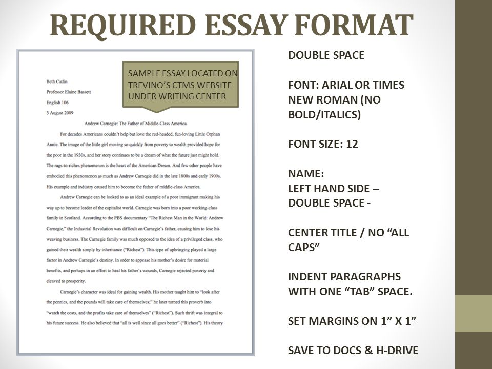essay format double This resource, updated to reflect the mla handbook (8 th ed), offers examples for the general format of mla research papers, in-text citations, endnotes/footnotes, and the works cited page the following overview should help you better understand how to cite sources using mla eighth edition, including the list of works cited and in-text citations.