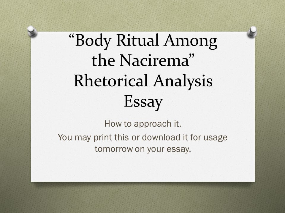 Body Ritual among the Nacirema essay