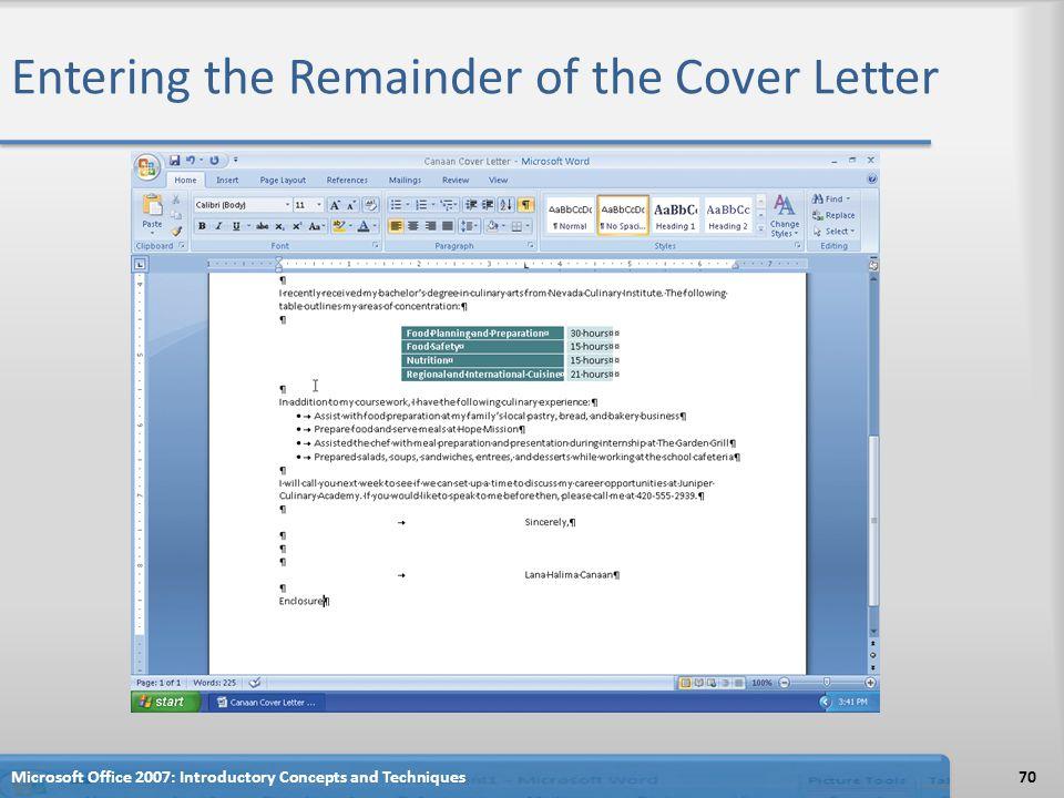 Cover Letter Techniques
