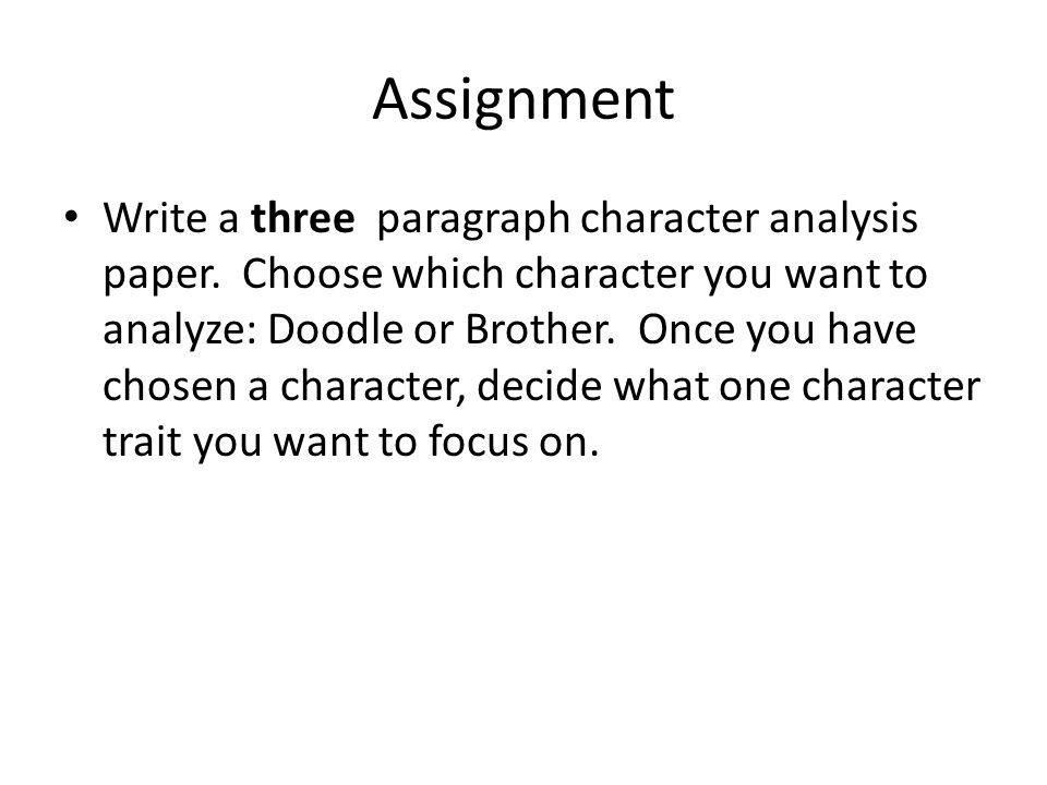 character analysis essay ppt video online  assignment