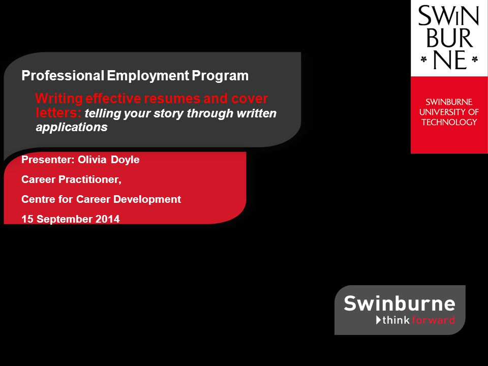 1 professional employment program writing effective resumes and cover letters - How To Write An Effective Resume And Cover Letter