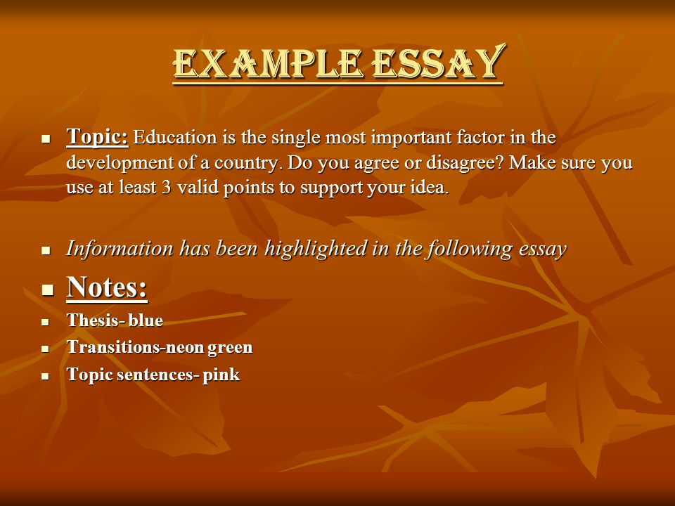 Development of our country essay