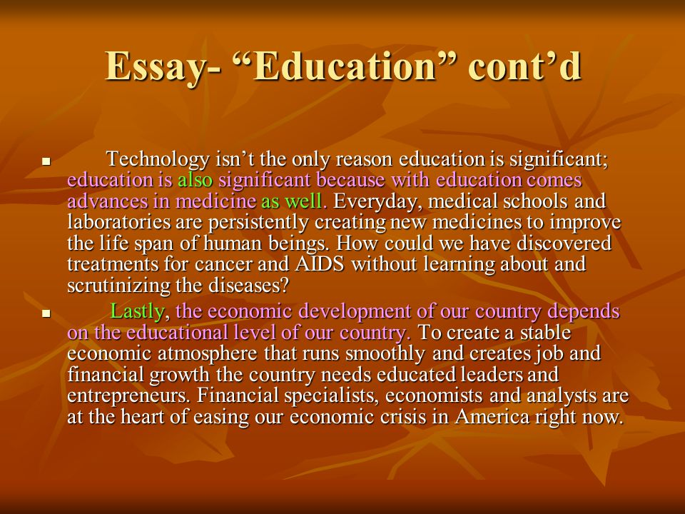 an essay on education for all Essay education for all - professional reports at affordable prices available here will turn your education into pleasure get started with research paper writing and compose the best essay ever professionally crafted and hq academic papers.