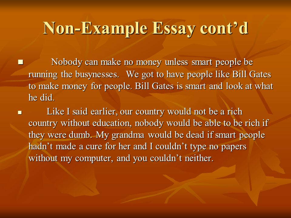 rich or intelligent essay The gap between rich and poor essay  many things have been tried out to solve these problems, but does it work it seems bizarre, that we, modern, intelligent people, have not yet succeeded to get rid of the differences between dcs (developed countries) and ldcs (less developed countries) we try, don't we  rich vs poor the poor hating.