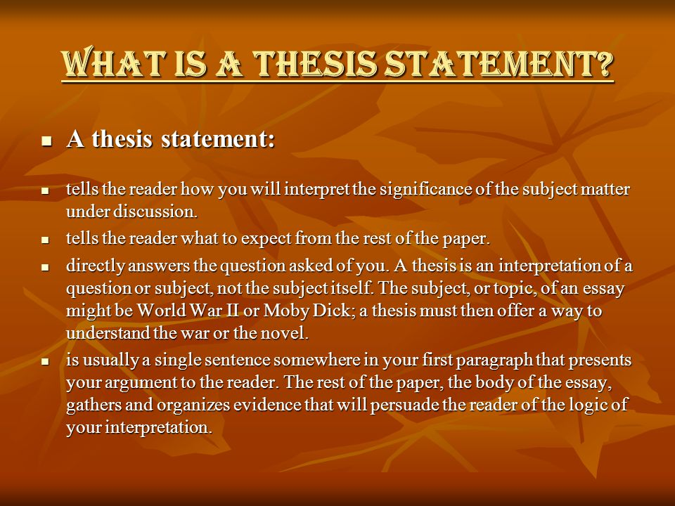 thesis statement not in first paragraph Understanding how to start a thesis is a very important the thesis statement come at the beginning of the thesis yes, your first paragraph must not pass.