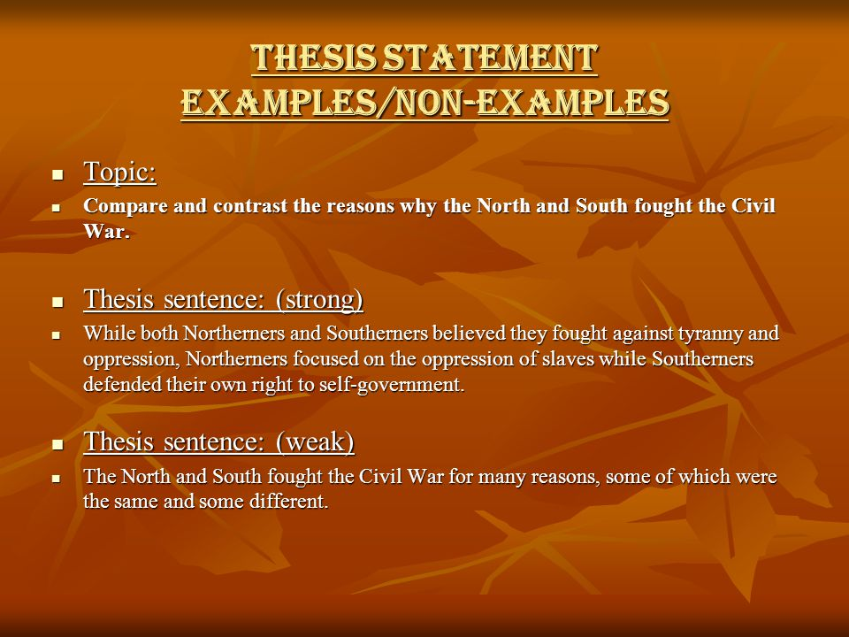 north and south compare and contrast civil war