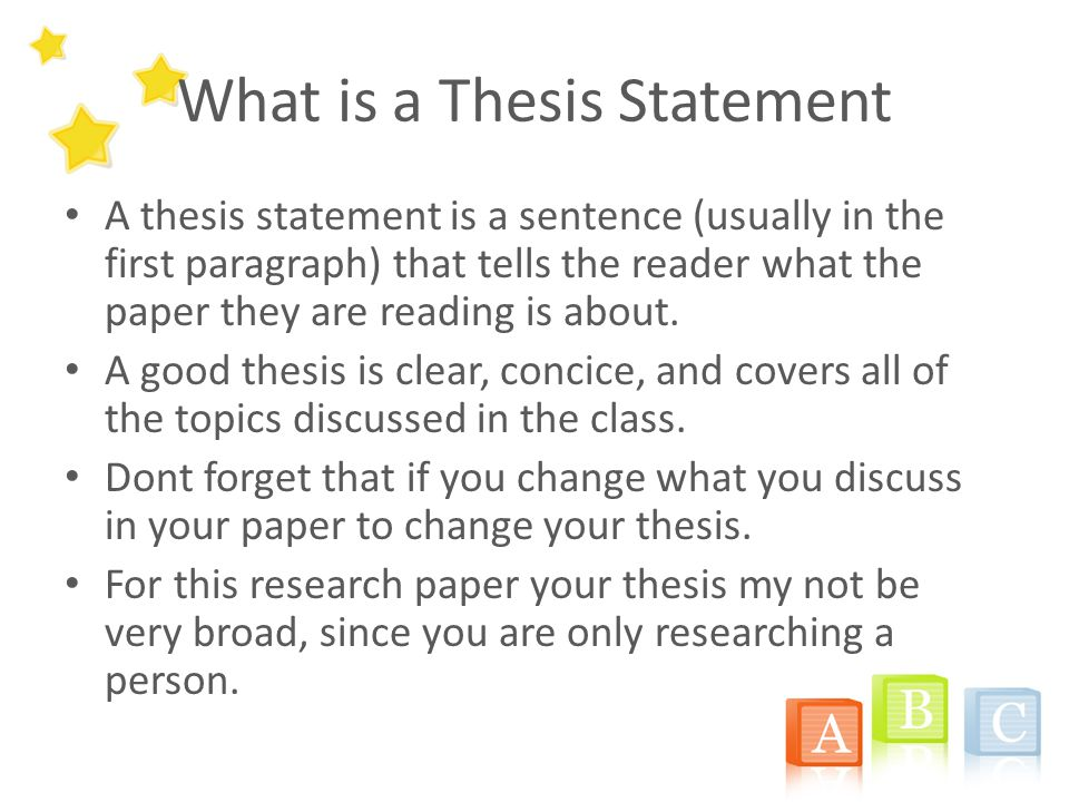 writing a research thesis statement