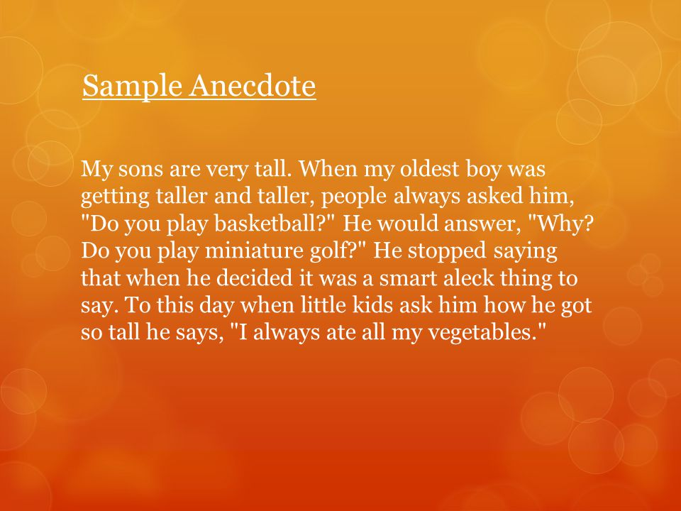 Anecdote Examples In Translate See Authoritative Translations Of Spanish With Example Sentences And