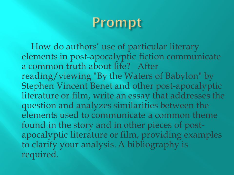 post apocalyptic essay ppt  2 prompt