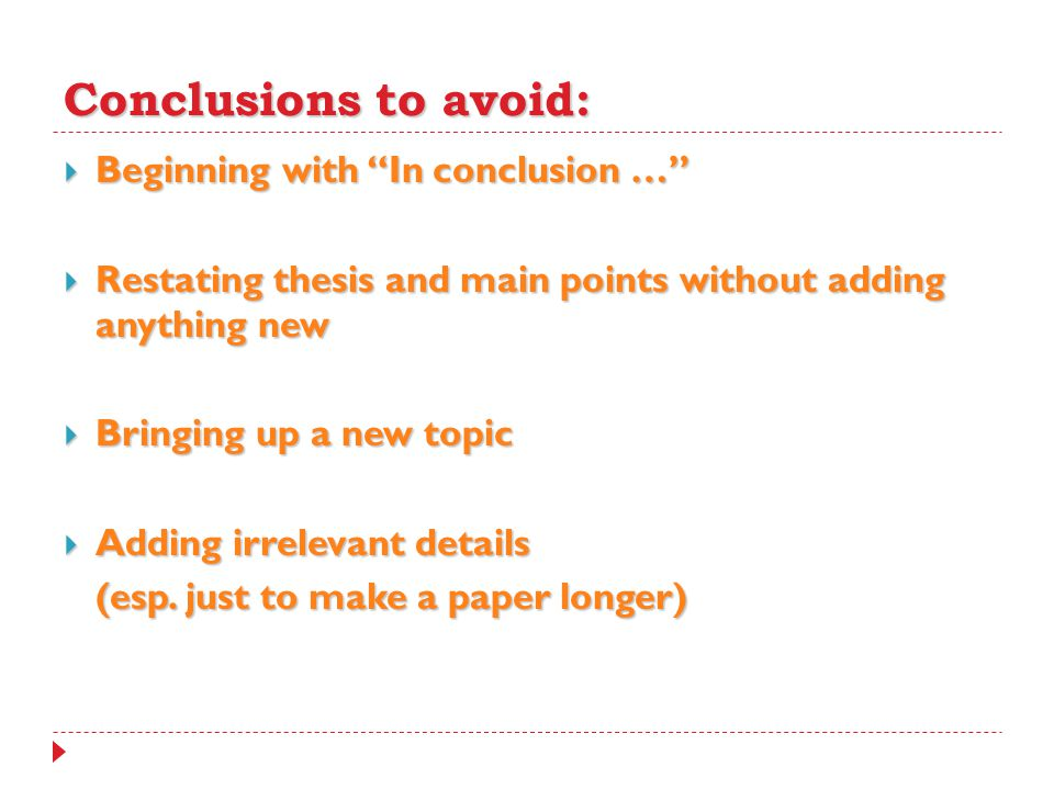how to make conclusions for research papers