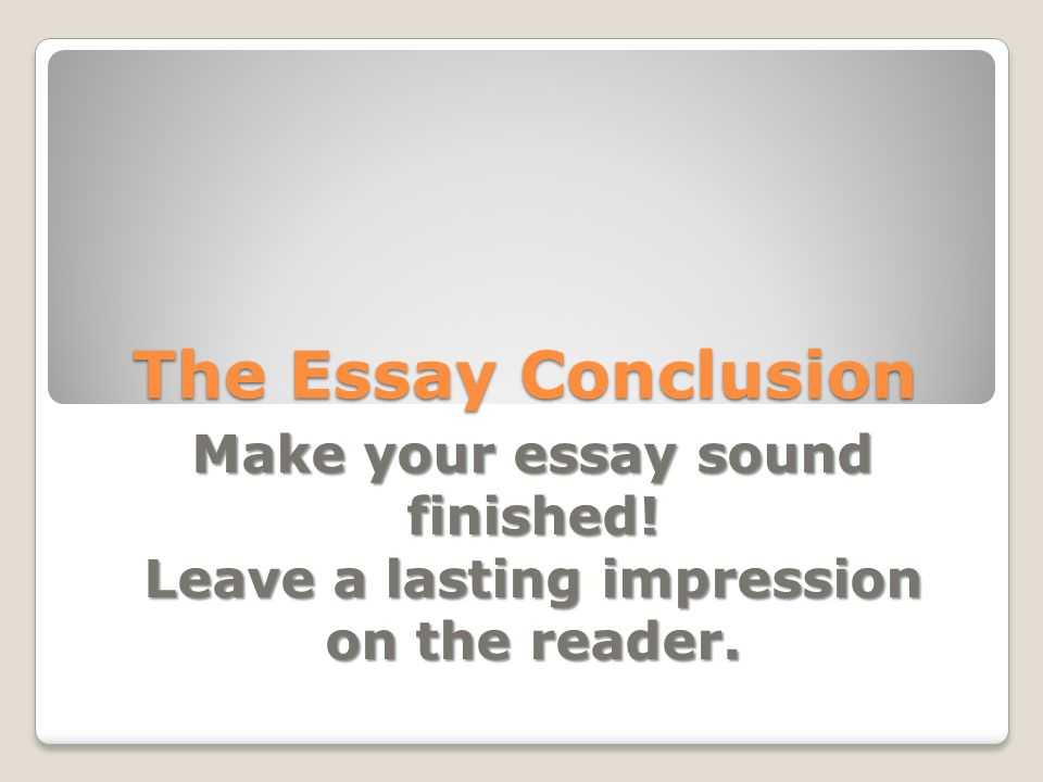 What is an impression in a essay